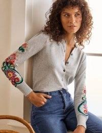 BODEN Somerset Embroidered Cardigan / embellished cardigans