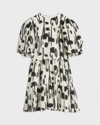 Ted Baker SIRSA Splodge Printed Dress | puff sleeve tiered hen dresses