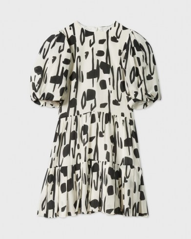 Ted Baker SIRSA Splodge Printed Dress   puff sleeve tiered hen dresses - flipped