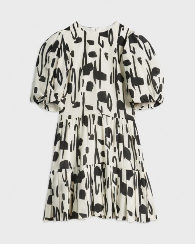 Ted Baker SIRSA Splodge Printed Dress   puff sleeve tiered hen dresses