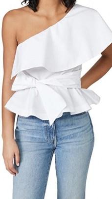 Stella Jean Popeline Top / one shoulder ruffle tops - flipped