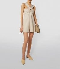STELLA MCCARTNEY Ring-Detail Playsuit 9960 Porcelain ~ front ruche detail playsuits
