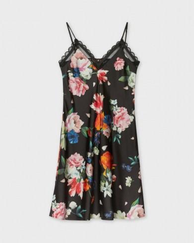 TED BAKET DODDL Strappy Sandlewood chemise / nightwear / floral nighties / chemises / cami strap slips / nightwear - flipped