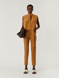 JOSEPH Leather Stretch Teddy Trousers ~ luxe slim leg pants