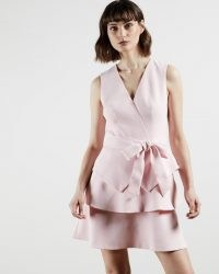 TED BAKER REINAH Tiered sleeveless dress in Pink