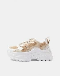 Topshop chunky trainers in stone