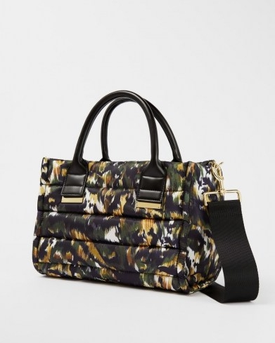 TED BAKER AMIINAA Urban Puffer Nylon Small Box Tote / top handle shoulder bags / camo style prints