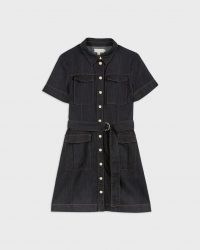 Ted Baker POLINNA Utility Denim Mini Dress | short sleeve belted shirt dresses | utility fashion