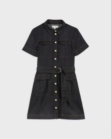 Ted Baker POLINNA Utility Denim Mini Dress   short sleeve belted shirt dresses   utility fashion
