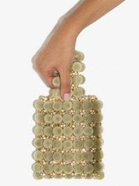 Vanina Le Jardin Royal mini bag ~ small greeen velvet bags