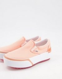 Vans Classic Slip-On Stacked trainers in pink