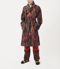 Vivienne Westwood BEN TRENCH COAT FLAME PRINT | printed coats