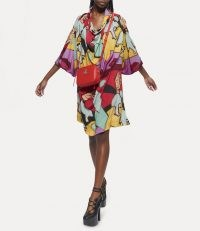 Vivienne Westwood GARRET DRESS ONE FUN SEPTEMBER ~ multicoloured bold print loose fit dresses