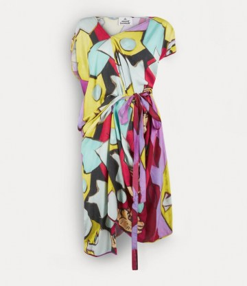 Vivienne Westwood JOHANNA DRESS ONE FUN SEPTEMBER ~ bold and vibrant printed dresses - flipped