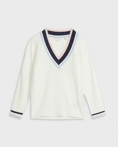 Ted Baker ALMAHH V-Neck Stripe detailed sweater