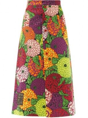 Bold floral print skirt - flipped