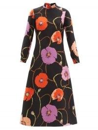 GUCCI X Ken Scott floral-print silk-blend dress ~ vintage prints ~ bold printed A-line midi dresses
