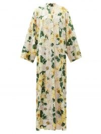 DOLCE & GABBANA Camelia-print silk-blend charmeuse gown ~ floral print gowns ~ beautiful Italian clothing