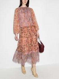 Zimmermann Botanica ruched maxi dress ~ floaty paisley print dresses
