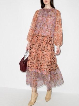 Zimmermann Botanica ruched maxi dress ~ floaty paisley print dresses - flipped