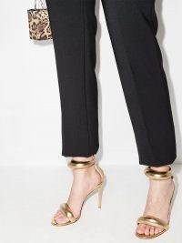 Gianvito Rossi California 105mm leather sandals ~ metallic-gold party heels