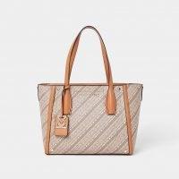 RIVER ISLAND RSD Brown Monogram Shopper Bag ~ chic branded shoppers