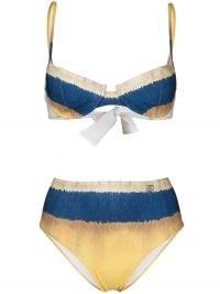 Alberta Ferretti oceanic tie dye bikini set / spaghetti strap bikinis