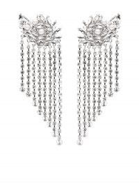 Alessandra Rich crystal-cascade drop earrings