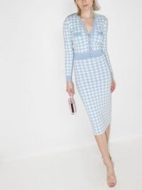 Alessandra Rich gingham cropped cardigan / checked cardigans
