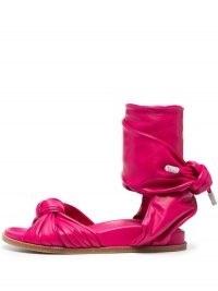 Alexandre Vauthier wraparound-style leather sandals – magenta-pink flats