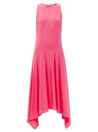 STELLA MCCARTNEY Annabelle handkerchief-hem crepe dress in pink