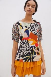 Conditions Apply Elsa Contrast Top / mixed print tops
