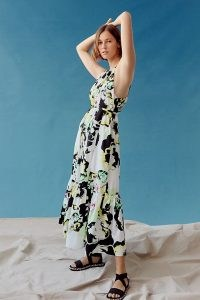 Peter Som for Anthropologie Larissa Tiered Maxi Dress | sleeveless frill hem summer dresses