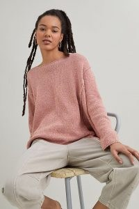 Beaumont Organic Alessandra Sweatshirt Coral | knitted drop shoulder pullover