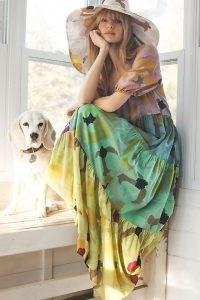 Anthropologie Caroline Tiered Maxi Dress   long multicoloured summer dresses