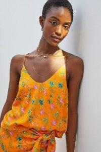 Anthropologie Sabia V-Neck Top   strappy cross back summer tops