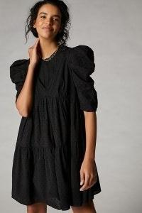 Forever That Girl Jane Lace Tunic Dress   romantic black volume sleeve dresses for summer