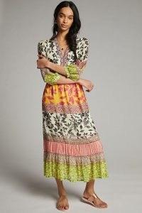 Vineet Bahl Ameglia Maxi Dress | mixed print summer dresses