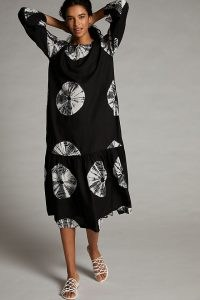NORBLACK NORWHITE Ayana Maxi Dress | floaty loose fit tie dye dresses
