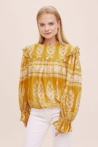 M.A.B.E. Peasant Blouse – yellow ruffled cotton blouses