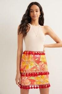 Verb Electra Eyelet Mini Skirt / tasseled floral skirts