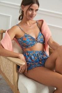 ANTHROPOLOGIE Willow Set Blue Motif / floral lounge sets / feminine loungewear