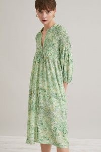 Grace Holliday Recycled Print Shirt Dress in Green