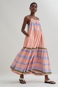 Devotion Sao Paolo Maxi Dress in Lilac ~ floaty skinny strap summer dresses
