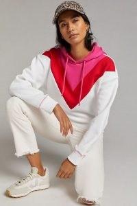 Maeve Colourblocked Chevron Hoodie ~ colour block pullover hoodies