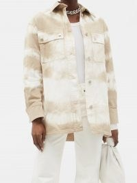 STELLA MCCARTNEY Bamboo Safari tie-dyed denim jacket ~ white and beige jackets
