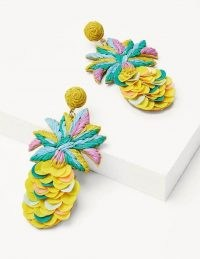 BODEN Sequin Earrings Pineapple / playful tropical fruit jewellery