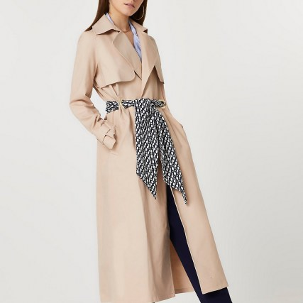 River Island Beige belted trench coat - flipped