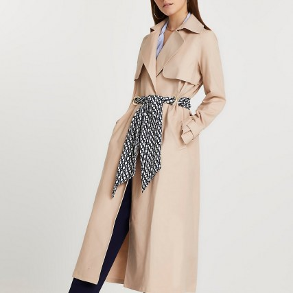 River Island Beige belted trench coat