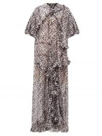 PREEN BY THORNTON BREGAZZI Botan floral-print recycled-fibre georgette gown – ruffled gowns
